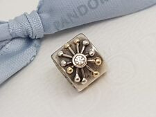 Authentic Two Tone Pandora Desert Star Charm Silver & 14K Gold 790188CZ