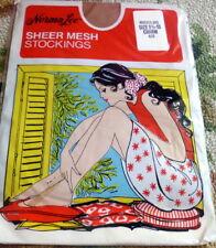 "Nip Vintage Norma Lee Sheer Mesh Seamless Stockings ""Charm"" Nylons Sz 9 1/2-10"