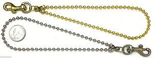 Brass / Nickel Ballchain Ball Chain Purse Clutch Pouch Wrist Strap  Made In USA