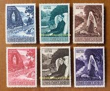 EBS Vatican City Città del Vaticano 1958 Lourdes Anniversary 233-238 MNH**