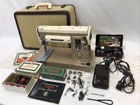 SERVICED Heavy Duty Vtg Singer 301a Sewing Machine Slant Shank Denim Leather