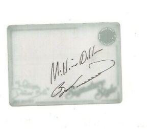 2013 Legends Racing autographed press plate cyan Bill Elliot Famous Feats 1 of 1