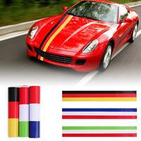 rayas de colores Alemania Italia bandera francesa Etiqueta engomada del coche