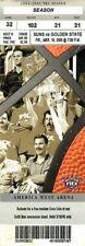 Ticket Basketball Phoenix Suns 2005 - 3/18 - Golden State Warriors