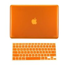 "2 in 1 ORANGE Crystal Hard Case for Macbook PRO 15"" A1286 with Keyboard Cover"