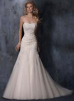 Elegant Tulle Wedding Dresses Size 6 8 10 12 14 16 18 Custom Made UK Stock