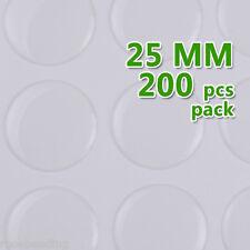 200PCS 25MM Round Transparent Epoxy Domes Resin Cabochon Sticker C1902