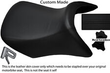BLACK CUSTOM FITS BMW R 1200 RT FRONT REAL RIDER LEATHER SEAT COVER