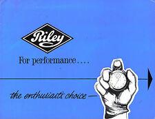 Riley Elf, 1.5 & 4/72 1961-62 Original UK Sales Brochure Pub. No. H&E 6188