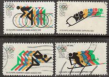 Scott #1460-62 + C85 Used Set of 4, 1972 Olympics