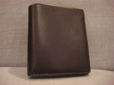 SKAGEN MEN'S ERNST INTERNATIONAL BIFOLD BLACK LEATHER WALLET - BRAND NEW