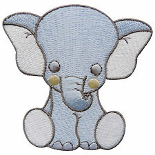 Cute Elephant Baby Funny Wild Animal Zoo Forest Children Iron-On Patches #A048