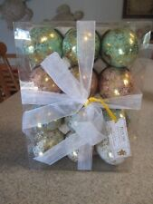 New- 12 Gold Foil Leaf Speckled Pastel Easter Eggs, Decor, Table, Hostess Gift!
