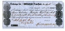 1854. New York  Bill of Exchange