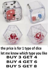 DOUBLE DICE rpg board card game gift role play D&D strange dices d6 d12 d20 rpg