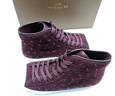 Coach Emerald Star Wool Nappa High-Top Fashion Sneaker Color Burgundy Size 10M