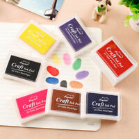 Rubber Stamp Ink Pads Oil Based Finger Painting Wood DIY Craft Scrapbooking