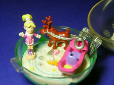 Polly Pocket Mini NEU ♥ Christbaum Kugel ♥ Glitter Reindeer ♥ 2002 ♥ OVP ♥ NEW ♥