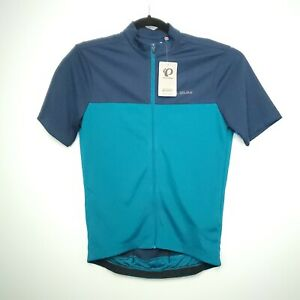 Pearl Izumi Quest Cycling Jersey Men's Size XS,S Short Sleeve Navy Teal Full Zip
