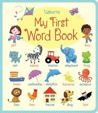 Usborne My First Word Book (bb) 270 familiar words for children spot & learn NEW