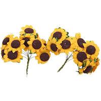 100pc Mini Paper Artificial Sunflower DIY Craft Photography Sunflower Decor G6A