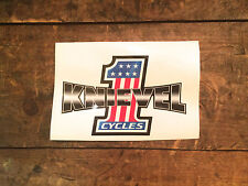 KNIEVEL CYCLES STICKER DECAL Evel  #1 Harley Triumph Daredevil Motorcycle Tank