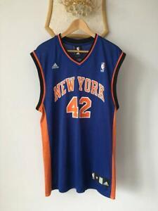 NEW YORK KNICKS NBA BASKETBALL JERSEY SHIRT ADIDAS VINTAGE DAVID LEE #42 ADULT M