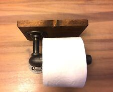 Industrial Urban Pipe Toilet Paper Holder (Pick your own stain)