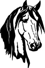 Horse Head elegant 8x12  vinyl wall decal