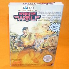 VINTAGE 1992  NINTENDO ENTERTAINMENT SYSTEM NES OPERATION WOLF GAME CART BOXED
