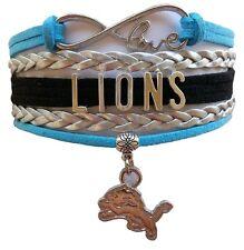 Detroit Lions NFL Football Infinity Bracelet Jewelry Wristband