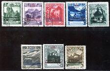 LIECHTENSTEIN DIENST 1932 1-8 gestempelt TADELLOS 700€(S0609