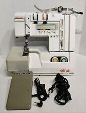Elna Lock Pro 5 DC Serger Sewing Machine Tested Working