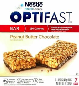OPTIFAST 800 BARS - PEANUT BUTTER CHOCOLATE - 2 BOXES - 14 SERVINGS - L@@K!