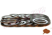 STRIPING TAPE 20M NAIL ART - LINE STICKER ROLL - Brown