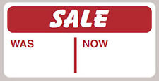 200 x Sale Was Now Self Adhesive Peelable|Removable Price Tags Labels Stickers