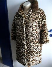 Gefärbter Lammfell-Mantel Jacke mit Ozelot-Muster Lamm gefärbt Pelzmantel