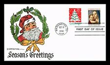 DR JIM STAMPS US HAND COLORED CHRISTMAS COMBO FIRST DAY COVER MCINTYRE