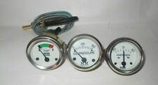 Minneapolis Moline Tractor Temperature - Oil Pressure -Ammeter Gauge Kit chrome