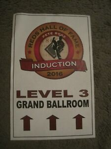 PETE ROSE  2016 Cincinnati Reds Hall of Fame Induction Poster