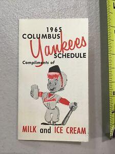 1965 Columbus Yankees NY Minor League Baseball Schedule