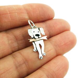 Labrador Dog 925 Silver and Copper Pendant in a Gift Box