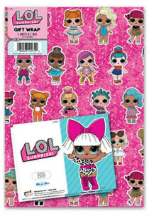 LOL SURPRISE! Gift Wrap Pack,  2 x Wrapping Paper Sheets & Gift Tags - FREE P&P