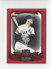 2013 Topps The Elite Red #TE20 Lou Gehrig Yankees 39/50