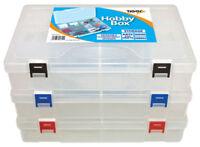 Hobby Craft Clear Tuff Storage Box Multi-Purpose Organiser Parts Strong Box NEW