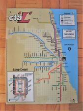 Chicago Transit L System Map (2002) Fiberboard Loop Midway O'Hare Addison Loyola