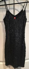 NWT EIGHT SIXTY BLACK SEQUIN SPARKLE SPAGHETTI STRAP COCKTAIL DRESS Small S New