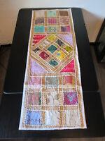 Tischläufer Patchwork Tischdecke Orient-Wandbehang Indien Läufer Weiß