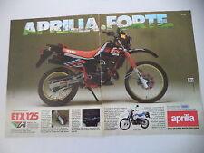 advertising Pubblicità 1986 MOTO APRILIA ETX 125