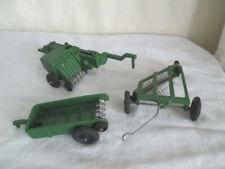 Vintage Farm Toy Implements *Slik/Lee *Baler *Rake *Spreader